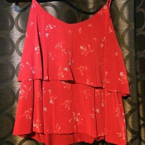 Tops - Red floral Tank top